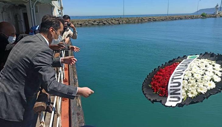 21 yıl önce meydana gelen deniz kazasında hayatını kaybeden 38 kişi düzenlenen törenle anıldı