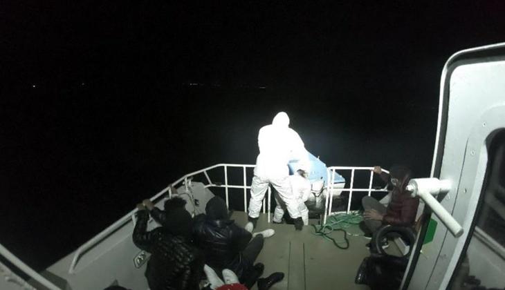 8 göçmeni Sahil Güvenlik ekipleri kurtardı