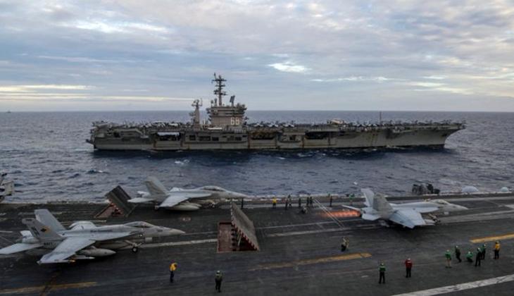 ABD Donanması, Güney Çin Denizi'nde tatbikat yaptı