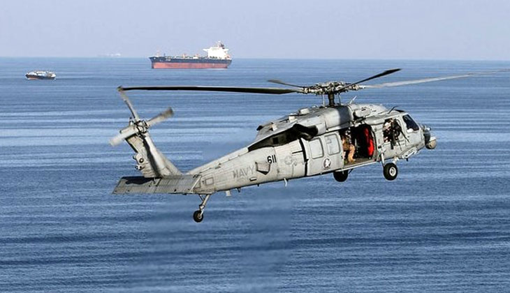 ABD DONANMASINA AİT MH-60S TİPİ HELİKOPTER OKYANUSA DÜŞTÜ