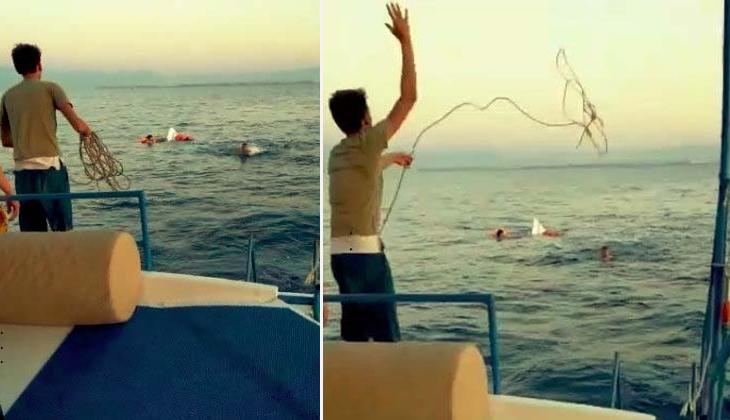 Antalya açıklarında alabora olan teknedeki üç kişi ölümden döndü