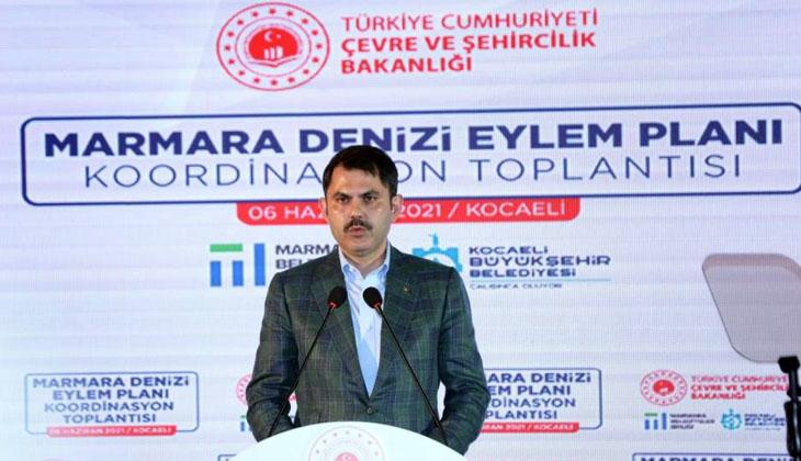 Bakan Kurum, Marmara Denizi'ni deniz salyasından kurtaracak eylem planını açıkladı...