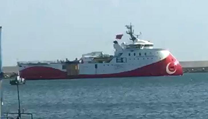Barbaros Hayreddin Paşa sismik araştırma gemisi Filyos Limanı'nda