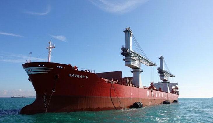 Çanakkale Boğazı'nda KAVKAZ V isimli kuru yük gemisi makine arızası yaşadı