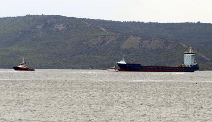 Çanakkale Boğazı'nda makine arızası yaşayan LİDER HALİL isimli gemi Karanlık Liman bölgesine çekildi