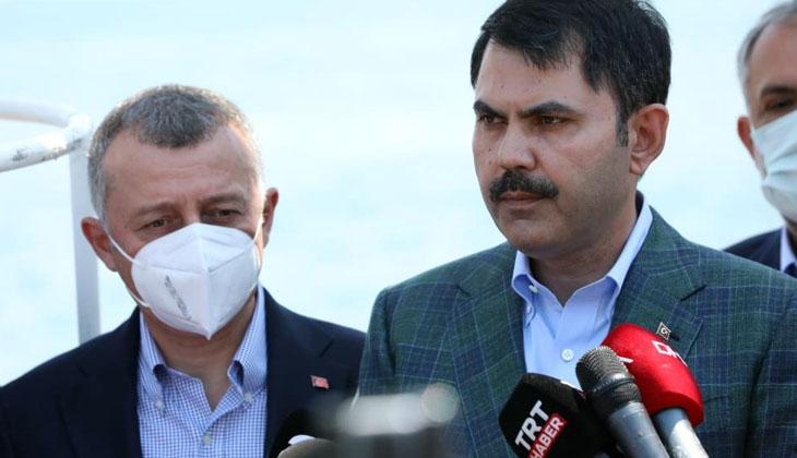Çevre ve Şehircilik Bakanı Murat Kurum, Marmara Körfezi'nde incelemeler yaptı