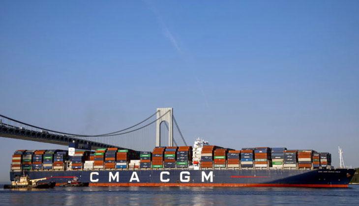 CMA CGM Marco Polo, ABD'nin doğu kıyısı'na yanaşan en büyük gemi oldu