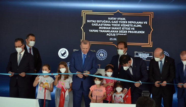Cumhurbaşkanı Recep Tayyip Erdoğan, Hatay'da yapılan projeleri hizmete açtı