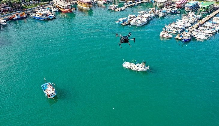 Deniz kirliliği drone ile denetleniyor