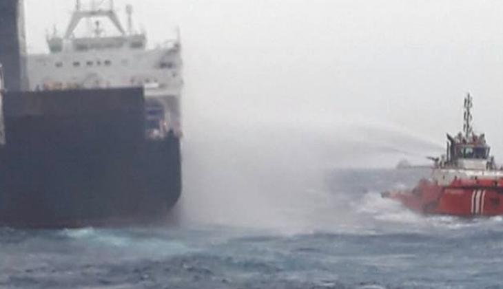 Denizcilik Genel Müdürlüğü'nden Çanakkale açıklarında yangın çıkan Gallipoli Seaways gemisi ile ilgili açıklama!
