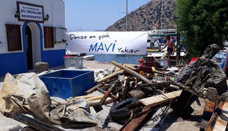 Denizden 1 ton atık çıkardılar!