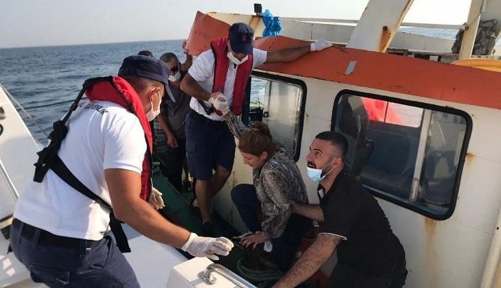Didim açıklarında 21 düzensiz göçmen kurtarıldı