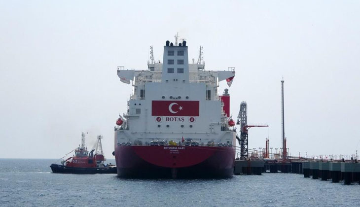 Ertuğrul Gazi'ye ilk LNG nakli başladı