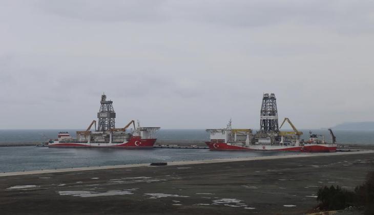 Fatih ve Kanuni Sondaj Gemileri Filyos Limanı'nda buluştu