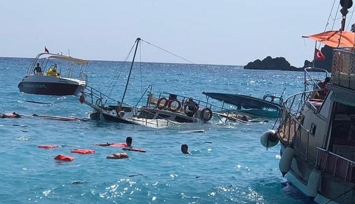 Fethiye açıklarında günübirlik tur teknesi battı!