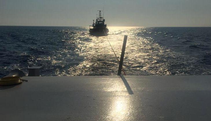 Fethiye'de sürüklenen tekne kurtarıldı