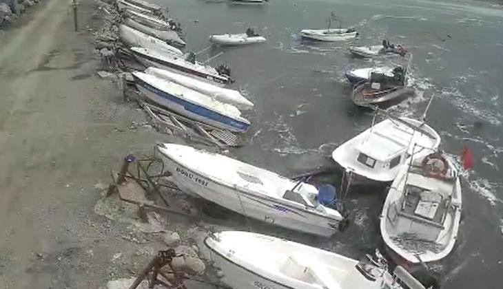 Hatay'da oluşan gel-git nedeniyle balıkçı tekneleri sürüklendi