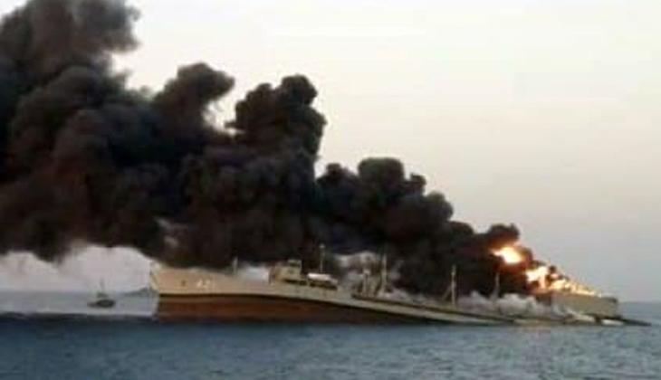 İran donanmasının en büyük tonajlı gemisi Umman Denizi'nde battı