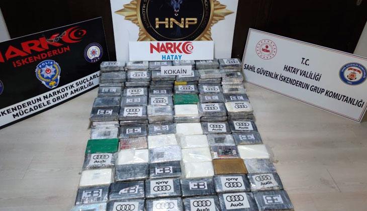 İskenderun Körfezi'nde bir gemide 176,6 kilogram uyuşturucu ele geçirildi