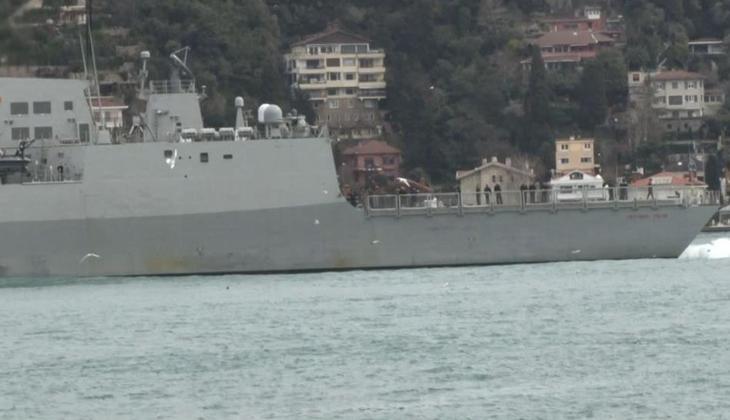 İspanya savaş gemisi İstanbul Boğazı'ndan geçti