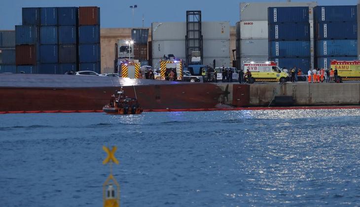 İspanya'da alabora olan Nazmiye Ana gemisinin mürettebatı İstanbul'a getirilecek