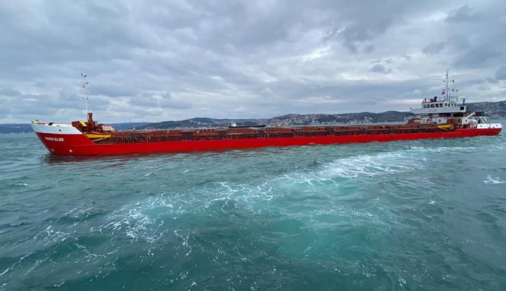 İstanbul Boğazı'nda 90 metrelik kuru yük gemisi makine arızası yaşadı