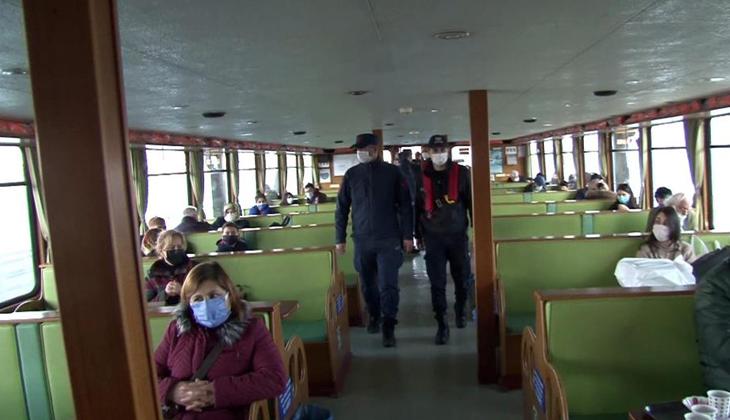 İstanbul'da tekne ve yatlara Covid-19 denetimi yapıldı