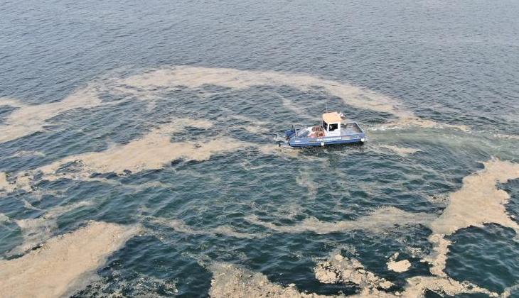 İzmit Körfezi'nde 674,835 metreküp deniz salyası toplanarak bertaraf edildi