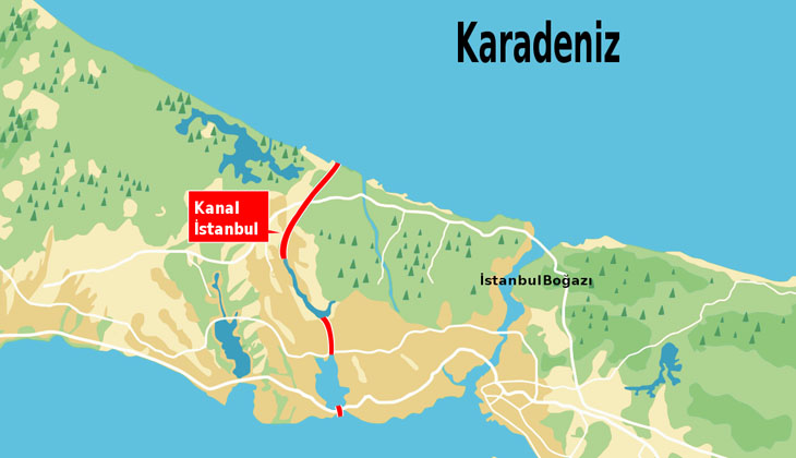 Kanal İstanbul projesi için yapılacak temel atma töreni öncesinde hazırlıklar başladı