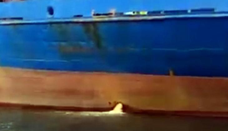 KKTC'den Akdeniz'i kirleten gemiye 25 bin lira para cezası