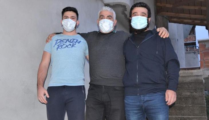Kurtarılan Stajyer Kaptan Hamza Orhan, ailesine kavuştu