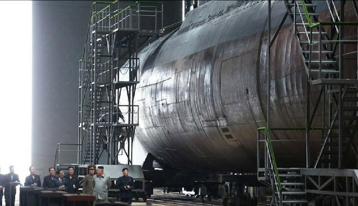 Kuzey Kore 3 bin tonluk balistik füze denizaltısının montajını tamamladı
