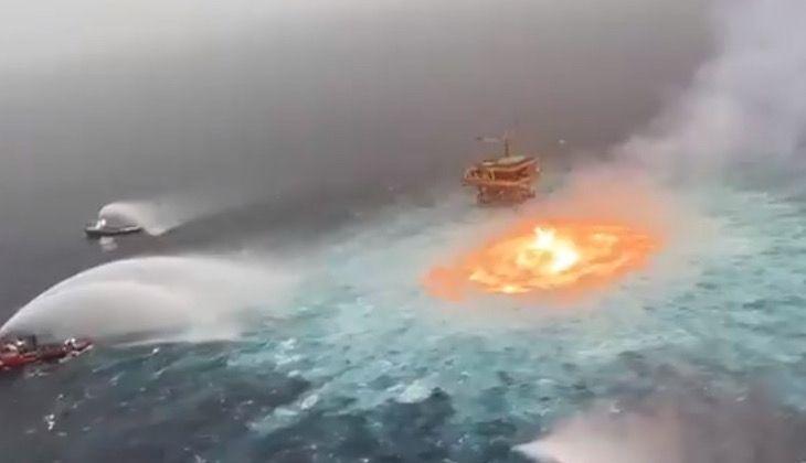 Meksika Körfezi'nde büyük yangın!