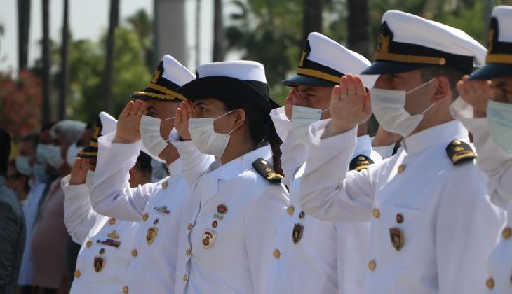 Mersin'de Denizcilik ve Kabotaj Bayramı sade bir törenle kutlandı