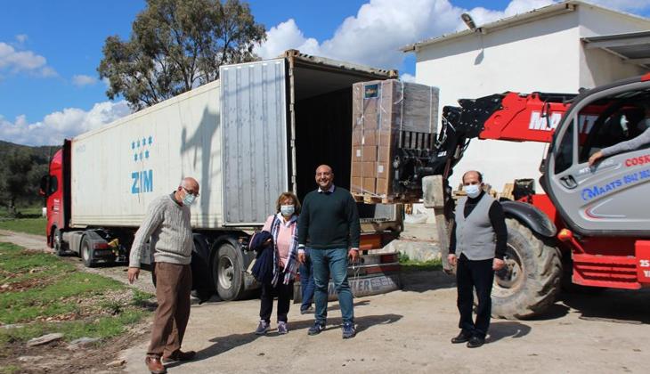 Milas'tan Malezya'ya 6,5 ton zeytinyağı ihraç edildi