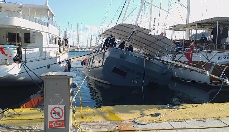 Milyon dolarlık tekne batmaktan son anda kurtarıldı