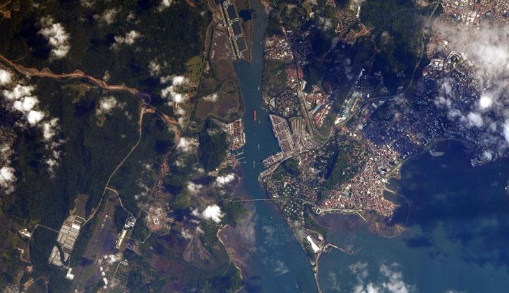 NASA, Panama Kanalı'nın uzaydan görüntüsünü paylaştı