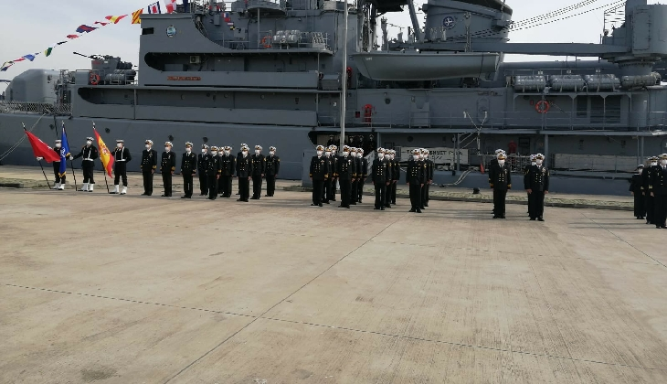 NATO Daimi Mayın Karşı Tedbirleri Deniz Görev Grubu-2'nin komutası Türk Deniz Kuvvetleri Komutanlığı'na devredildi