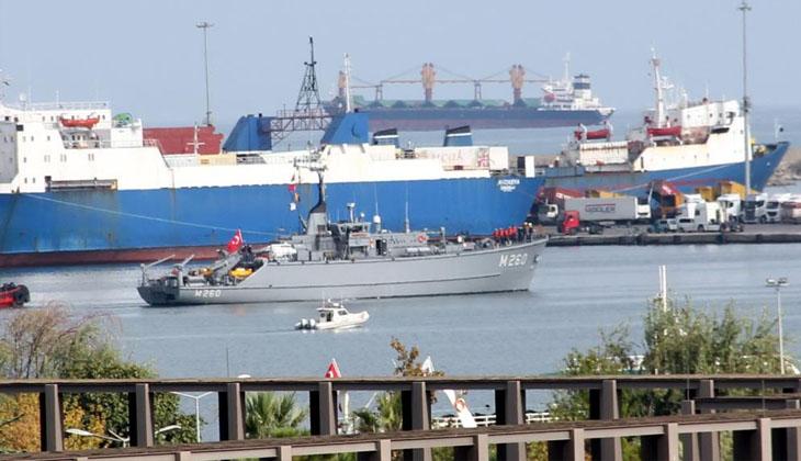 NATO GEMİLERİ SAMSUN'DAN AYRILDI