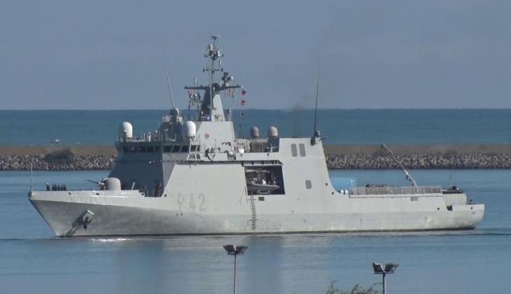 NATO SAVAŞ GEMİLERİ SAMSUN LİMANI'NDA