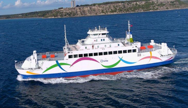 Gökçeada 1 gemisi, yenilenen renkleriyle Çanakkale'ye döndü