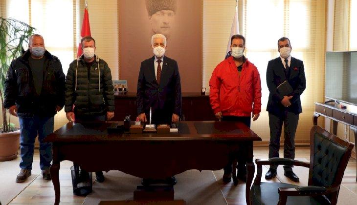Muğlalı denizcilerden Büyükşehir Belediye Başkanı Osman Gürün'e teşekkür ziyareti
