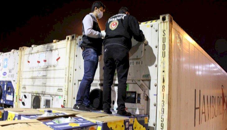 Ambarlı Limanı'nda iki konteynerde 88 kilogram uyuşturucu madde ele geçirildi