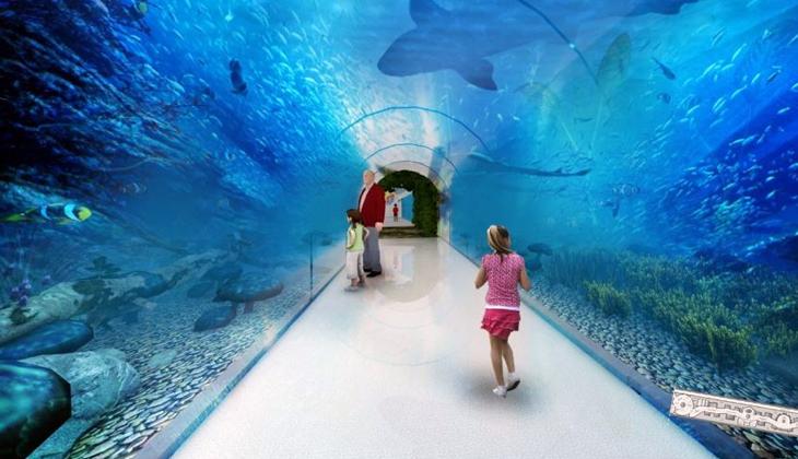 Okyanus canlıları görücüye çıkacak! Tünel Akvaryum' projesinde sona yaklaşılıyor...