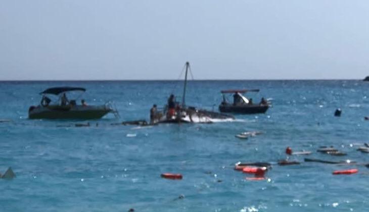Ölüdeniz'de batan teknenin kaptanı gözaltına alındı