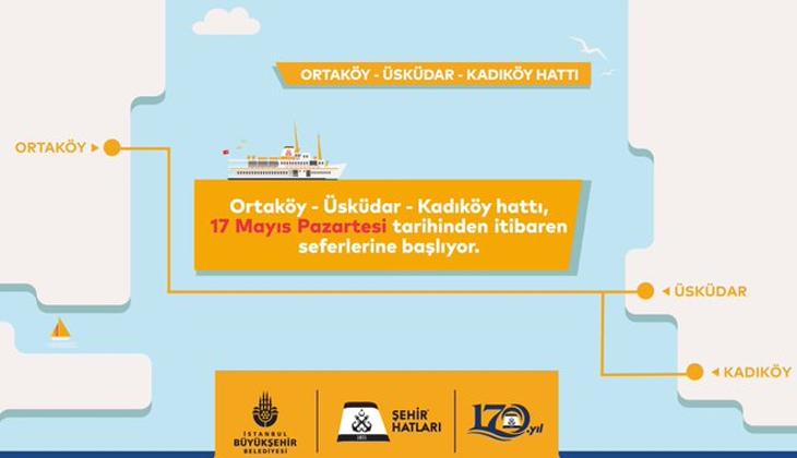 Ortaköy - Üsküdar seferlerine Kadıköy bağlantısı eklendi
