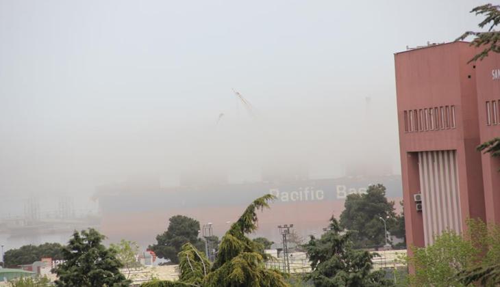 Samsun Limanı toz duman içinde kaldı