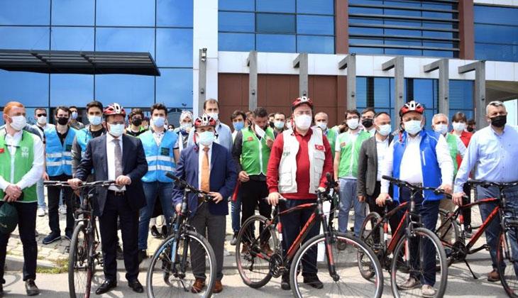 """Samsun'da """"Kudüs İçin Bisikletini Al Gel"""" isimli etkinlik yapıldı"""