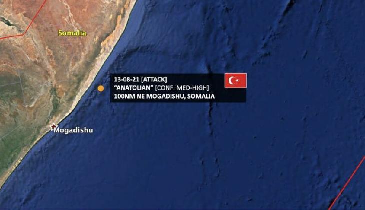 SOMALİ'YE İNSANİ YARDIM MALZEMESİ TAŞIYAN TÜRK GEMİSİ, DENİZ HAYDUTLARININ SALDIRISINA UĞRADI