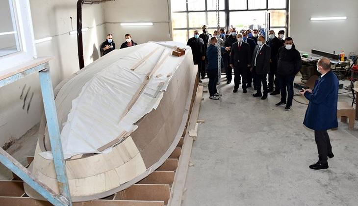 Tekirdağ'da yeni kurulan firmada ilk tekne üretim bandına çıktı